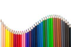Farbenbleistifte eingestellt Stockfoto