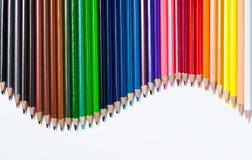 Farbenbleistifte eingestellt Stockbilder