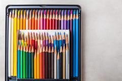 Farbenbleistifte eingestellt Stockfotografie