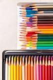 Farbenbleistifte eingestellt Lizenzfreies Stockfoto