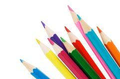 Farbenbleistifte getrennt über Weiß Lizenzfreies Stockfoto