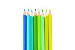 Farbenbleistifte getrennt auf weißem Hintergrund Lizenzfreies Stockbild