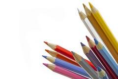 Farbenbleistifte mit flachem DOF Lizenzfreie Stockbilder