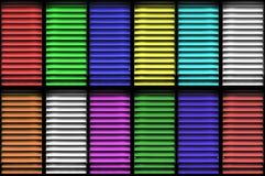 Farbenblendenverschlüsse Stockbild