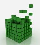 Farbenblockgebäude stockfoto