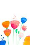 Farbenblumen im Aquarell Lizenzfreie Stockfotografie