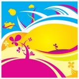 Farbenblumen-vektorhintergrund vektor abbildung