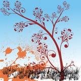Farbenblumenhintergrund Stockfotografie