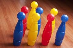 Farbenbowlingspiel Lizenzfreies Stockbild