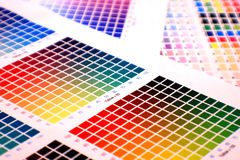 Farbendiagramm lizenzfreie stockfotografie