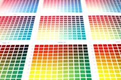 Farbendiagramme Stockfoto