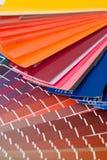 Farbendiagramme Stockfotografie