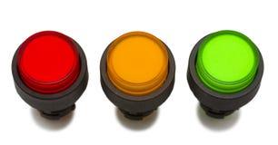 Farbendrucktaste in der Zeile Stockfotografie