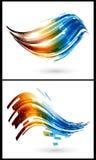 Farbenelemente für abstrakten Hintergrund Stockfotos