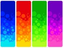 Farbenfahnen Stockfoto