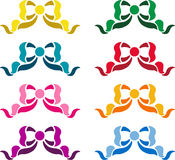 Farbenfarbbänder Stockfoto