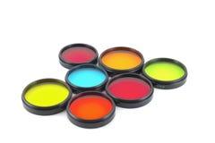 Farbenfilter für Objektive Stockfotos