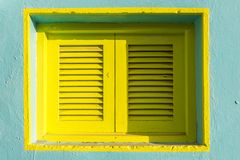 Colorful shutter of a Mediterranean house royalty free stock photo
