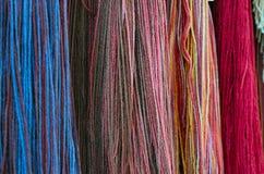 Farbengarnbildschirmanzeige stockfoto