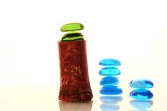 Farbenglassteine stockbild