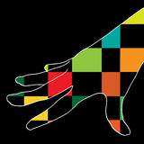 Farbenhand Lizenzfreies Stockfoto