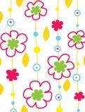 Farbenhintergrund mit Blumen Lizenzfreie Stockbilder