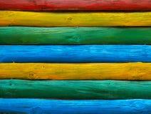 Farbenholzwand stockfotografie
