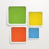 Farbenkästen. Schablone für einen Text lizenzfreie abbildung