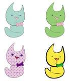 Farbenkatzen Stock Abbildung
