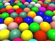 Farbenkugeln oder Ostereier Lizenzfreie Stockbilder