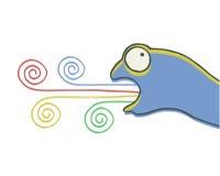 Farbenkunsteidechse Lizenzfreie Stockbilder
