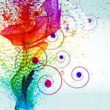Farbenlack spritzt. vektor abbildung