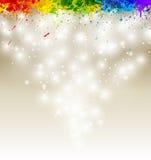 Farbenlack spritzt Gestaltungsarbeit Stockfoto