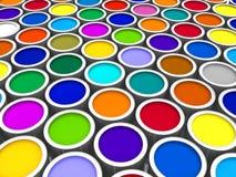 Farbenlackdosen Stockfotos