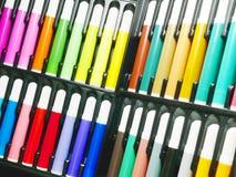 Farbenmarkierungsfeder Stockfoto
