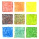 Farbenmischungshintergrund, Bleistifte Stockfoto