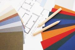 Farbenmuster und -lichtpause Lizenzfreie Stockbilder