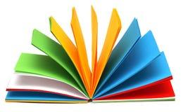 Farbennotizbuch Stockbild
