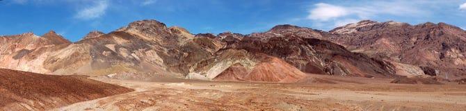 Farbenpalette Death Valley Stockfotos