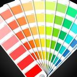 Farbenpalettenanleitung Stockbild