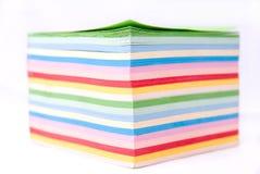 Farbenpapier Stockfoto