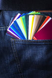Farbenpapierproben Stockbild
