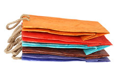 Farbenpapiertüten Lizenzfreie Stockbilder