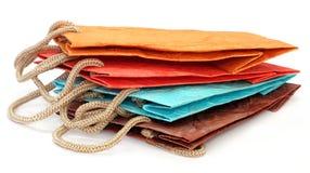 Farbenpapiertüten Lizenzfreies Stockfoto