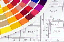 Farbenproben Stockbilder