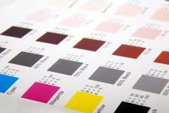 Farbenproben Stockfoto