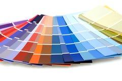 Farbenproben für Anstrich Stockbilder