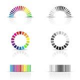 Farbenprofilproben Stockfoto