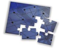 Farbenpuzzlespiel Lizenzfreie Stockfotografie