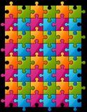 Farbenpuzzlespiel Lizenzfreies Stockbild